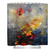 Abstract 0805 Shower Curtain by Pol Ledent