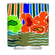 Abstract 229 Shower Curtain by Patrick J Murphy