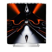 Abstract 4-22-09 Shower Curtain by David Lane