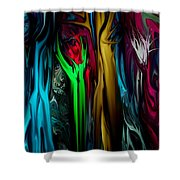 Abstract 7-09-09 Shower Curtain by David Lane
