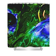 Abstract 7-25-09-1 Shower Curtain by David Lane