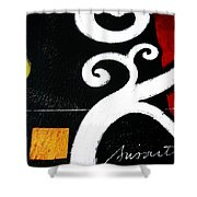 Abstract Blooms Shower Curtain by Pristine Cartera Turkus