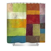 Abstract Color Study Lv Shower Curtain by Michelle Calkins