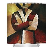 Abstract Cowboy Shower Curtain by Lance Headlee