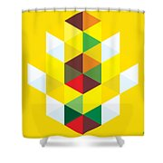 Abstract Cubes Shower Curtain by Gary Grayson