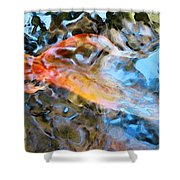 Abstract Fish Art - Fairy Tail Shower Curtain by Sharon Cummings