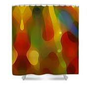 Abstract Flowing Light Shower Curtain by Amy Vangsgard