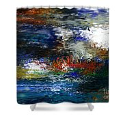 Abstract Impression 5-9-09 Shower Curtain by David Lane