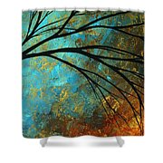 Abstract Landscape Art Passing Beauty 4 Of 5 Shower Curtain by Megan Duncanson