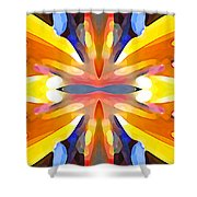 Abstract Paradise Shower Curtain by Amy Vangsgard