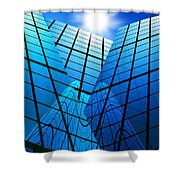 Abstract Skyscrapers Shower Curtain by Setsiri Silapasuwanchai