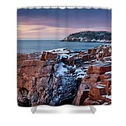 Acadian Cliffs Winter Sunrise 1 Shower Curtain by Susan Cole Kelly