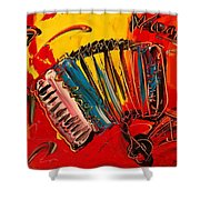 Accordeon Shower Curtain by Mark Kazav