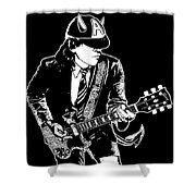 Acdc No.03 Shower Curtain by Caio Caldas