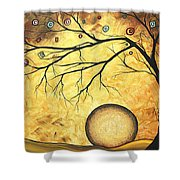 Across The Golden River By Madart Shower Curtain by Megan Duncanson