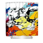 Adam Shower Curtain by Jean Pierre Rousselet