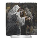 Address To Saint Philip Shower Curtain by Tissot