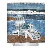 Adirondack Chair Shower Curtain by Debbie DeWitt