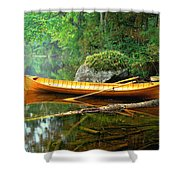 Adirondack Guideboat Shower Curtain by Frank Houck