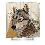 Adobe Gold Shower Curtain by Sandi Baker