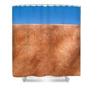 Adobe Wall Santa Fe Shower Curtain by Steve Gadomski