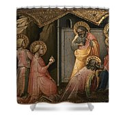 Adoration Of The Kings Shower Curtain by Granger