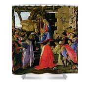 Adoration of the Magi Shower Curtain by Sandro Botticelli