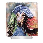 Afghan Storm Shower Curtain by Kathleen Sepulveda