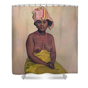African Woman Shower Curtain by Felix Edouard Vallotton