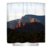 After Sunset In Sedona Shower Curtain by Susanne Van Hulst