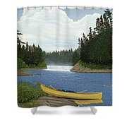 After The Rapids Shower Curtain by Kenneth M  Kirsch