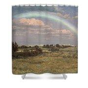 After The Storm Shower Curtain by Albert Bierstadt