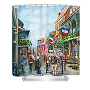 Afternoon On St. Ann Shower Curtain by Dianne Parks