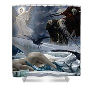 Ahasuerus At The End Of The World Shower Curtain by Adolph Hiremy Hirschl