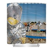 Airman Waits To Process Shower Curtain by Stocktrek Images