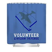 Alabama Civilian Defense - Wpa Shower Curtain by War Is Hell Store