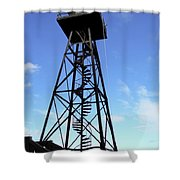 Alcatraz Guard Tower - San Francisco Shower Curtain by Daniel Hagerman