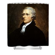 Alexander Hamilton Shower Curtain by War Is Hell Store