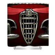 Alfa Red Shower Curtain by Douglas Pittman