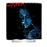 Alice Cooper Shower Curtain by Caio Caldas