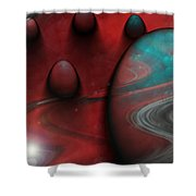 Alien Nation Shower Curtain by Linda Sannuti