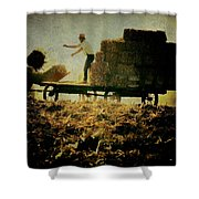 All In A Day's Work Shower Curtain by Trish Tritz