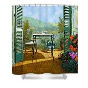 Alle Dieci Del Mattino Shower Curtain by Guido Borelli