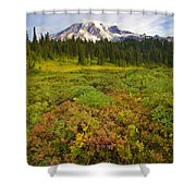 Alpine Meadows Shower Curtain by Mike  Dawson