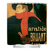 Ambassadeurs Shower Curtain by Henri de Toulouse-Lautrec