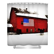 American Barn Shower Curtain by Bill Cannon