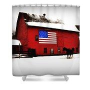 American Barn Shower Curtain by Bill Cannon