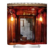 Americana - Movies - Ticket Counter Shower Curtain by Mike Savad