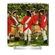 Americana - People - Preparing for battle Shower Curtain by Mike Savad