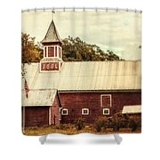 Americana Barn Shower Curtain by Lisa Russo